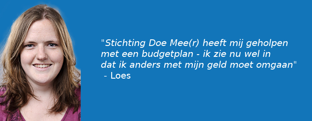 Loes kan verder dankzij mentorschap van Stichting Doe Mee(r)